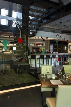 CRUDO at Versuz concept restaurant #Italian #interiordesign 12-25('s) glossy SANGHA('s) colours #DARK
