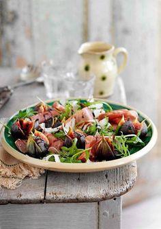 Salada de rúcula com figos...