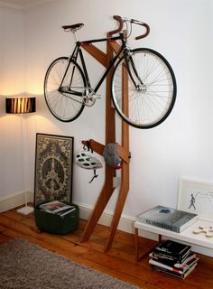 Great bike stand! | to share on http://www.greyfoxblog.com/2013/06/desirable-objects-quarterre-bicycle.html