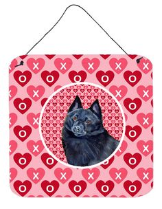 Schipperke Valentine's Love and Hearts Wall or Door Hanging Prints