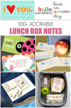100+ Lunch Box Notes for Kids: FREE PRINTABLES - print a bunch now and slip one in each day! #ad