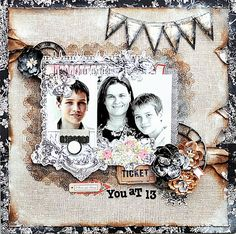 You at 13 Layout {My Creative Scrapbook } Prima Lyric Collection
