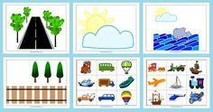 Transportation and Road Safety Preschool Printable Transportation Theme Preschool, Transportation Worksheet, Math Sheets, Block Area, Wheels On The Bus, Kindergarten Lessons, Preschool Printables, Tot School, Preschool Activities