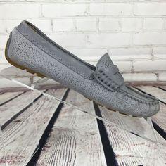 Womens Ralph Lauren Loafers  5.5 LRL Lauren  Camila Grey Driving Leather  b 3624 #LaurenRalphLauren #LoafersMoccasins