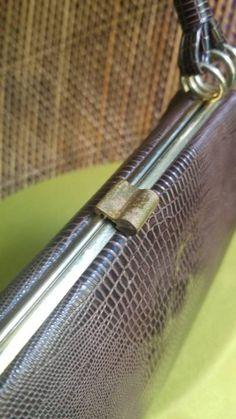 Vintage Faux Alligator Skin Purse Brown Handbag by Dover | Etsy Pocket Books, Handbags, Purses, Brown, Etsy, Vintage, Accessories, Totes, Hand Bags