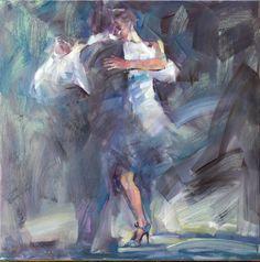 "Renata Brzozowska ""Flamenco "", olej na płótnie, 80 x 80 cm"