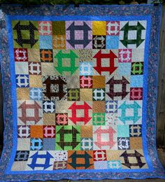 Dashing Quilt made by AngeliaNR of the Quilting Board based on pattern by Bonnie Hunter Random Ohio Stars