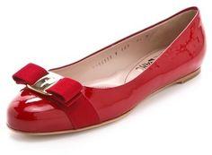 Salvatore Ferragamo Varina Classic Bow Flats on shopstyle.com