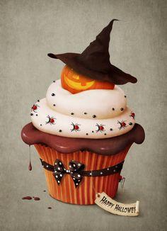 Cupcake con zucca strega