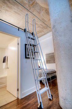 Concrete Column, Concrete Ceiling, Exposed Concrete, Small Space Living, Living Spaces, Toronto Lofts, High Windows, Lake Shore, Art Deco Buildings