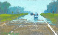 Road Sketch 19 by Rita Kirkman Pastel ~ 3 x 5 inches