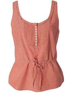 fc757cc17a TOPS - DENIM SUPPLY RALPH LAUREN   MINI BIB TANK - NELLY.COM Frilly Shirt