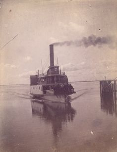 The Sappho - ferry that ran between Mount Pleasant and Charleston, circa 1901. Charleston Museum