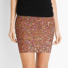 Orange Glitter mini skirt by Grit & Glitter. Find more cute, trendy, glittery tech accessories, phone cases, gifts, apparel and more at www.shopgritandglitter.com ♥