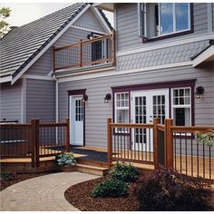 InandoutHome is a leading supplier of interior and exterior doors and other home products. Shop for bi fold closet doors, interior doors, exterior screen doors. Deck Railing Kits, Front Porch Railings, Wood Railing, Front Deck, Deck Railings, Exterior Stair Railing, Porch Awning, Railing Ideas, House Front