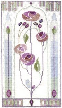 A lovely picture in muted shades based on the artwork of Charles Rennie Mackintosh and Margaret Macdonald Mackintosh.