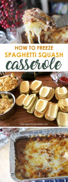 Wondering can you freeze spaghetti squash? The answer is yes! This is the simple recipe for freezing a delicious spaghetti squash casserole that your family will love! (Canning Squash Recipes)