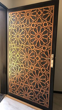 #saudiarabia #riyadh #doors #gates #design #cnc #lifestyle #modern #cadd #beautiful #metaldoor #lasercut #ابواب Door Gate Design, Metal Stairs, Moroccan Interiors, Decorative Panels, Interior Exterior, Interior Architecture, Iron Doors, Entrance Doors, Grill Design