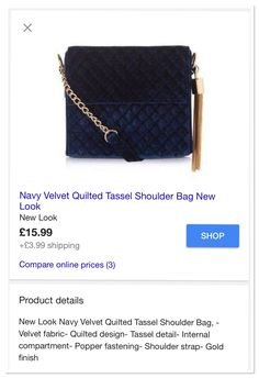 #love this little #blue #velvet #quiltedbag from @newlookfashion  #accessories #fashion #fashionista #fblogger #blogger #flog #instablog #instablogger #handbag #newlook #cute #wishlist #need #want #pretty #fashionaccessory #pearlsandvagabonds