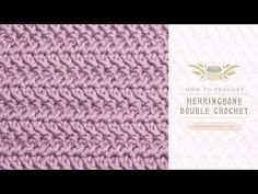 how to do herringbone double crochet stitch - Google Search