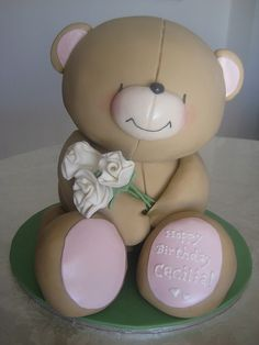 Forever Friends Bear Cake by Janero!, via Flickr....Very Nice