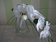 unique #bridal #bouquet with #white #phalenopsis Bridal Bouquets, Orchids, Glass Vase, Unique, Home Decor, Wedding Bouquets, Decoration Home, Room Decor, Home Interior Design