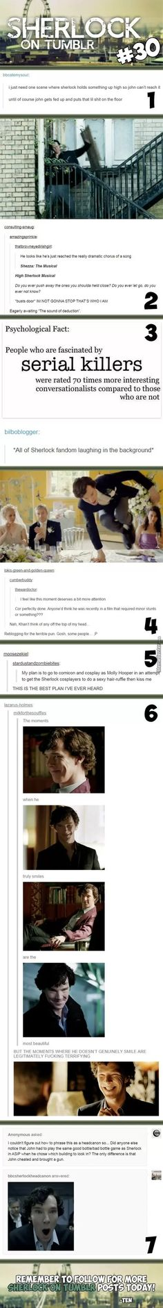 Sherlock - OMG @ the last one about John having to do a version of the good bottle vs the bad bottle. I never realized!!