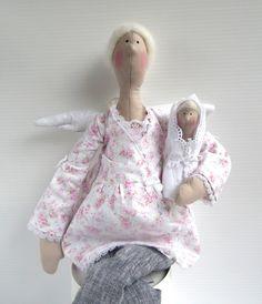Paño muñeca Angel muñeco de peluche regalo por CherryGardenDolls, $59,95