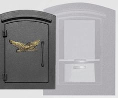 Manchester with security option, Decorative Eagle, Black