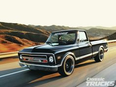 Vintage Trucks Classic 1968 Chevy - Creations n' Chrome's - Classic Trucks Magazine Chevy C10, 1968 Chevy Truck, Chevy Trucks Older, C10 Trucks, Chevy Pickup Trucks, Classic Chevy Trucks, Chevy Pickups, Chevrolet Trucks, Classic Cars