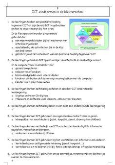 ICTheek: ICT-projecten kleuterschool, bekijken