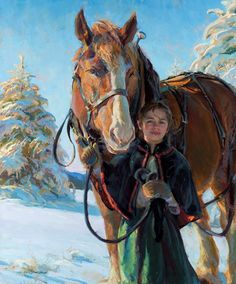 View original oil paintings by Daniel Gerhartz, a living master of American painting. Romantic Paintings, Beautiful Paintings, Horses In Snow, Equine Art, Horse Art, Horse Horse, Western Art, American Artists, Figurative Art