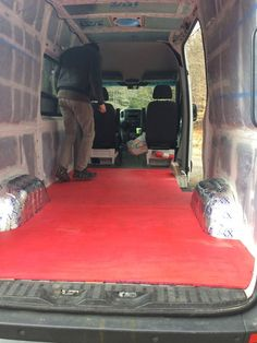 DIY Flooring | Campervan Conversion | Sprinter Van | www.sprintervandiaries.com