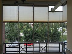 Ankara Plise cam balkon perdesi