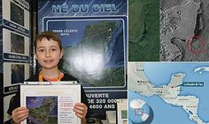 William Gadoury, 15, from Saint Jean de Matha in Quebec developed a theory linking the location of Mayan cities and star constellations which led to the discovery of an 86 metre pyramid in Mexico.