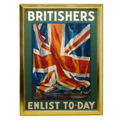 1906 Original British Recruitment Rail Office Poster by Guy Lipscombe | From a unique collection of antique and modern posters at http://www.1stdibs.com/furniture/wall-decorations/posters/
