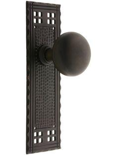 Door Knobs. Arts & Crafts Passage Door Set With Oil-Rubbed Bronze Knobs Exterior Door Knobs.