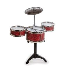 Westminster Desktop Drum Set, Random Color: Fun desk accessory 2 - inch tom toms, 6 inch tom tom, metal cymbal, 2 -plastic drumsticks & plastic stand Age 8 and Up. No tools required. Drummer Gifts, Musician Gifts, Cool Desk Gadgets, Musical Toys For Kids, Kids Toys, Cool Desk Accessories, Doll Accessories, Best Drums, John Bonham