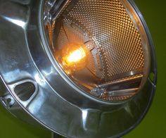 Washing machine drum floor lamp