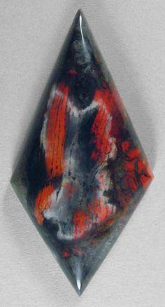 Tabu Tabu Forest Fire Jasper cab Silverhawk's designer gemstones.