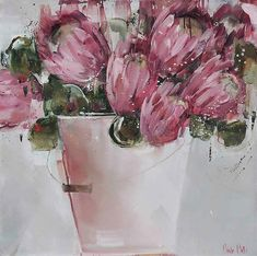 Artwork of Nicole Pletts exhibited at Robertson Art Gallery. Original art of more than 60 top South African Artists - Since Abstract Canvas Art, Acrylic Art, Flower Images, Flower Art, Protea Art, Red Artwork, Online Painting, Paintings Online, Art Folder