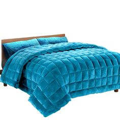 Giselle Bedding Faux Mink Quilt Duvet Doona Winter Weight Throw Blanket Teal SK Experience exquisite luxury and warmth with the Giselle Bedding Faux Mink Qu Duvet, Bedding, Electric Throw Blanket, Quilts Online, Double Quilt, Single Quilt, Foam Pillows, Queen Quilt, Fleece Throw