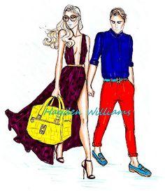 Hayden Williams Fashion Illustrations: 'Tropical Getaway' by Hayden Williams pt. 3