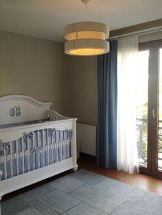 Project Nursery - Elegant Blue and White Nursery