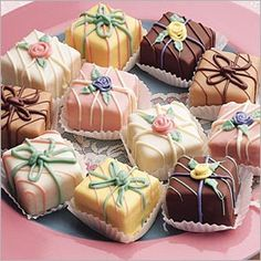 American Style Petits Fours...So Cute :)