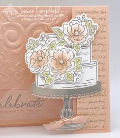 Happy Birthday To You Spanner Panel Three Layer Birthday Cake With Flowers, Birthday Cake Card, Homemade Birthday Cards, Happy Birthday Cakes, Wedding Anniversary Cards, Happy Anniversary, Wedding Cards, Anniversary Quotes, Fun Fold Cards