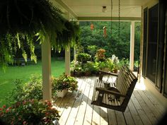 Porch and swing is a must.