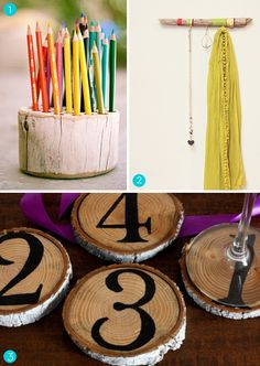 Branches, twigs, and logs -- oh my! Turn this readily available material into stylish decor accessories. Stumped? Here are 15 awesome projects to get the creative juices flowing.  #diy