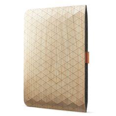 Grovemade MacBook sleeve -- beautiful geometric handmade wooden case $99