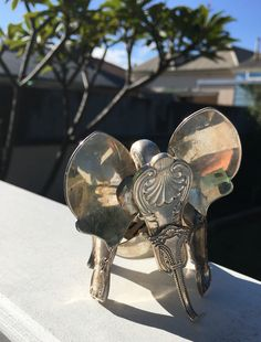 Elephant by Cat Silverware sculpture